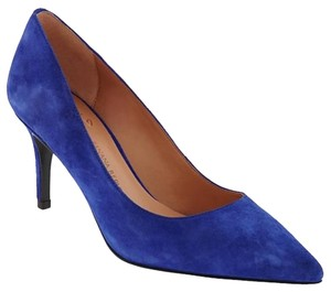 Banana Republic Suede Pump Heels Dreamy royal blue Pumps