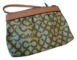 Coach Small Wristlet in pitaschio green
