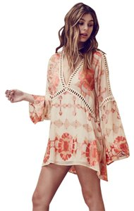 For Love & Lemons short dress Pink Muliticolor on Tradesy