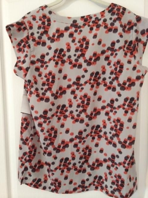 Eclair Polyester Top Cream with pink and black