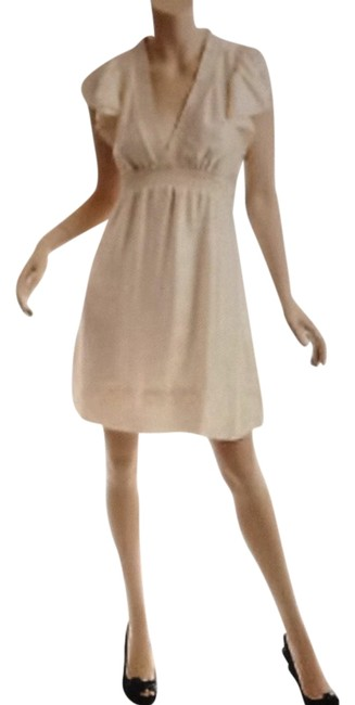 Preload https://item5.tradesy.com/images/bcbgmaxazria-cream-ruffled-cap-sleeve-short-casual-dress-size-12-l-1052009-0-0.jpg?width=400&height=650