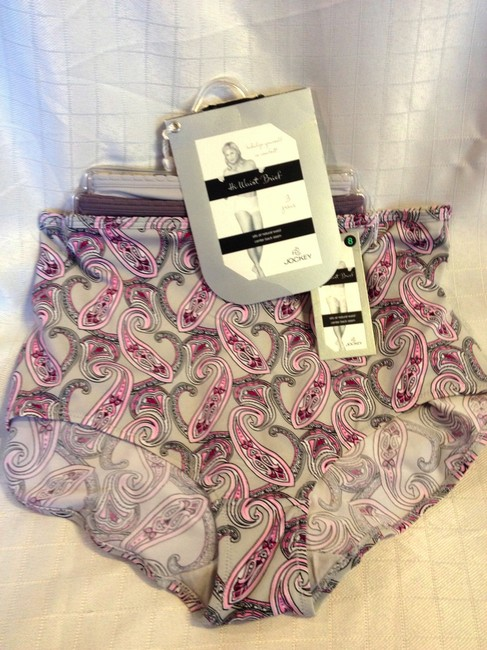Jockey PANTIES L SZ 7 NWT 3 PR JOCKEY HI WAIST BRIEF SEAM IN BACK STRETCH Image 1