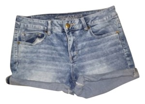 American Eagle Outfitters Cuffed Shorts Light Blue
