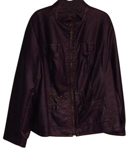 Giacca antique purple Leather Jacket