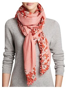 Tory Burch Tory Burch Primula Logo Square Scarf Coral Orange Pink New With Tag