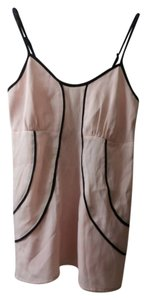LC Lauren Conrad Black Straps Modern Top Dusty Pink