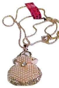 Betsey Johnson New Betsey Johnson Purse necklace pendant Ivory Gold pearls crystal J178