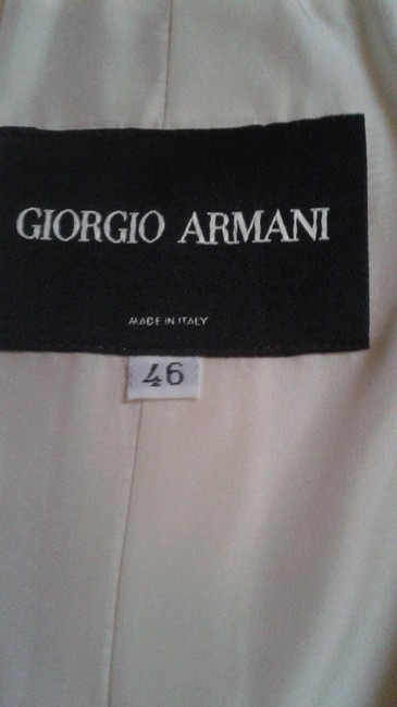 Giorgio Armani palest cream peach Jacket