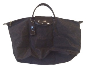 Carlos Falchi Travel Sport Tote in Black