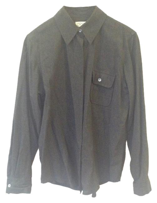 Preload https://item4.tradesy.com/images/ann-taylor-loft-charcoal-gray-dress-shirt-blouse-size-4-s-10521823-0-1.jpg?width=400&height=650