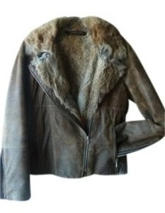 Andrew Marc Tan Leather Jacket