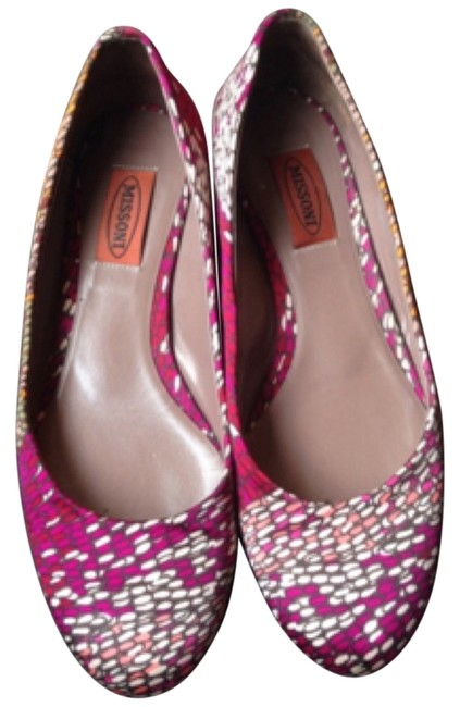 Missoni Multi Pinks Silk Flats Size US 7.5 Regular (M, B) Missoni Multi Pinks Silk Flats Size US 7.5 Regular (M, B) Image 1