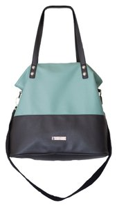 Jessica Simpson Color-blocking Summer Trendy Tote in teal/gray colorblock