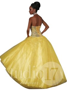 House of Wu Ball Gown Beaded Sequin Dress