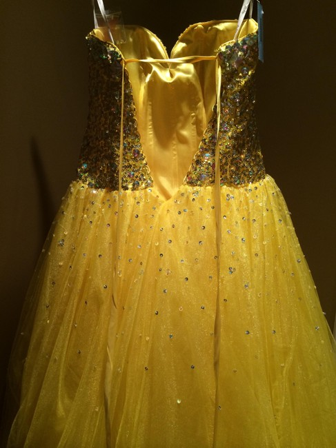 House of Wu Ball Gown Corset Beaded Sequin Dress