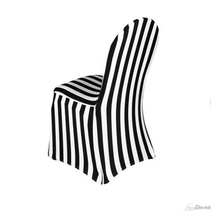 Black And White Spandex Stretch Chair Covers X 50