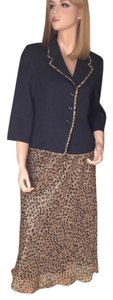HBS Collection Leopard Skirt Suit