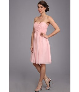 Donna Morgan Blush Silk Chiffon Sweetheart Feminine Bridesmaid/Mob Dress Size 2 (XS)