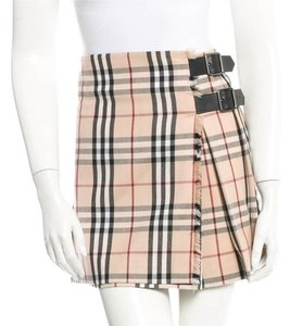 Burberry Beige Tan Nude Skirt Beige, Black