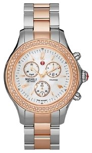 Michele $2500 NWT Limited Edition Jetway Rose Gold MOP watch MWW17A000017