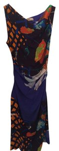 Etro Feminine Ruched Silk Designer Dress