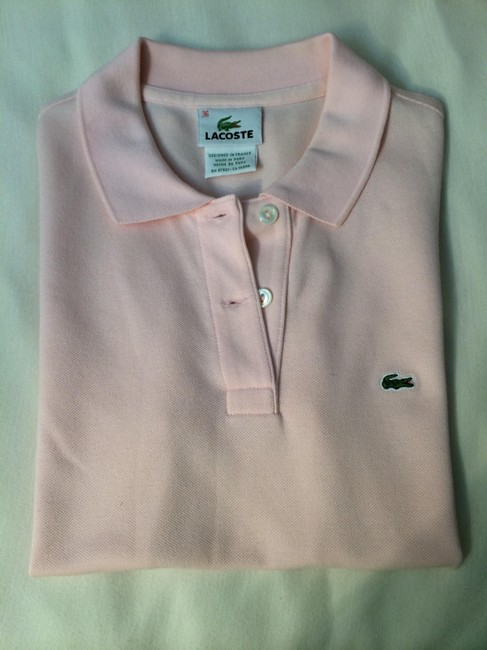 Lacoste Button Down Shirt Pale Pink
