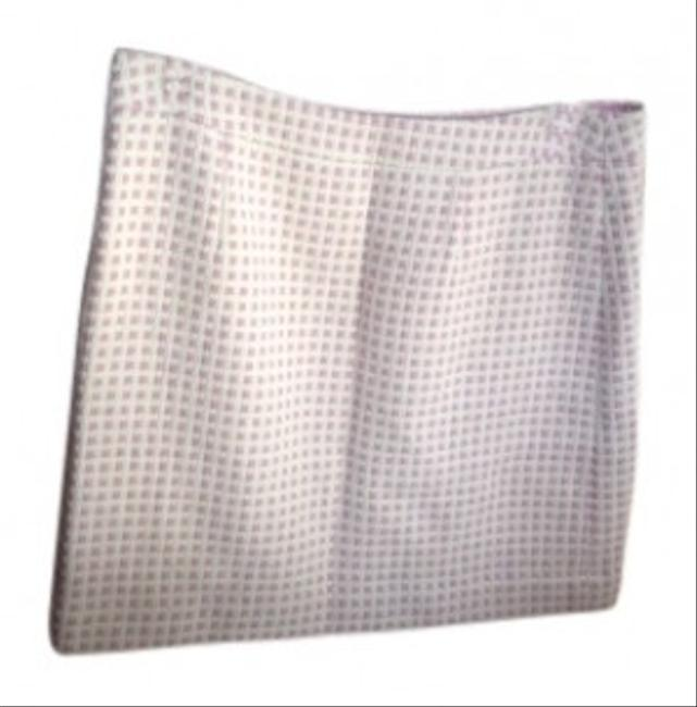 Banana Republic Charming Fun This Fully Lined Weave Perfect For The Office Or An Afternoon Party. Shell; Fully Lined With Drop Skirt Pink and Cream