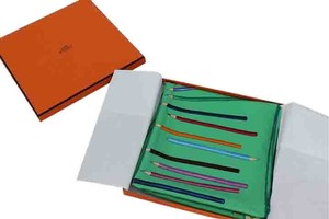 Hermès A Vos Crayons Silk Scarf by Leigh P Cooke
