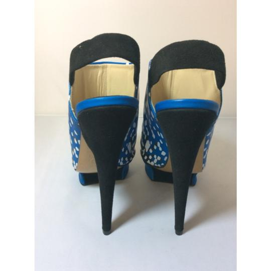 Nicholas Kirkwood Blue/White/Black Platforms