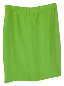St. John Knit Elastic Skirt Lime