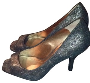 BCBGeneration Blue Shimmer Pumps