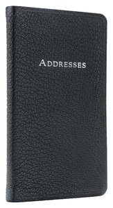 Tiffany & Co. New Tiffany & Co. Black Leather Address Book, size: 5-1/4