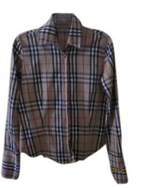 Preload https://img-static.tradesy.com/item/10524/burberry-checkered-long-sleeve-buttoned-shirt-blouse-size-6-s-0-0-650-650.jpg