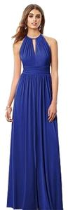 After Six Bridesmaid Full Length Halter Gray Dress