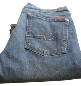 7 For All Mankind Straight Pants denim