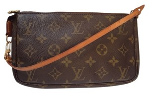 Louis Vuitton Hand Clutch Wristlet in brown