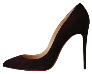 Christian Louboutin Pigalle Follies 100 Cramoisi So Kate 120 Suede Wine Pumps