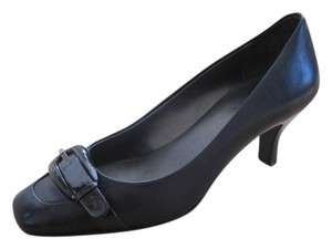 Circa Joan & David Leather Professional Black Pumps