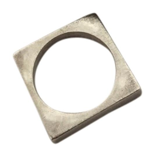Preload https://item3.tradesy.com/images/versani-great-condition-ship-today-925-pure-silver-ring-square-brushed-matte-modern-chic-minimal-uni-10524532-0-3.jpg?width=440&height=440