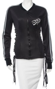 Dolce&Gabbana Black Grey Monogram Black, white Jacket