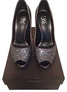 Barneys Co-Op Glitter Platform Charcoal Formal