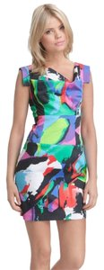 Black Halo Jackie O Abstract Shift Dress