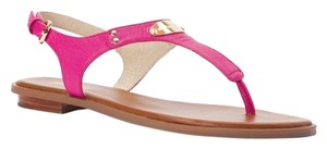 Michael Kors Leather New Pink Summer Fuschia Leather Sandals