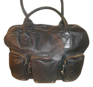 Rough Roses Satchel in Black