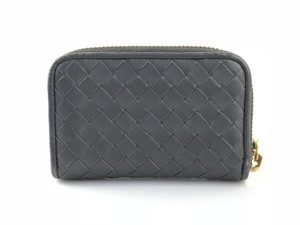 3998f97ae57d5 Bottega Veneta Dark Grey Intrecciato Zip Around Coin Wallet - Tradesy