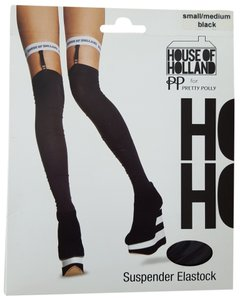 House of Holland House of Holland for Pretty Polly Suspender Elastock Over The Knee Socks