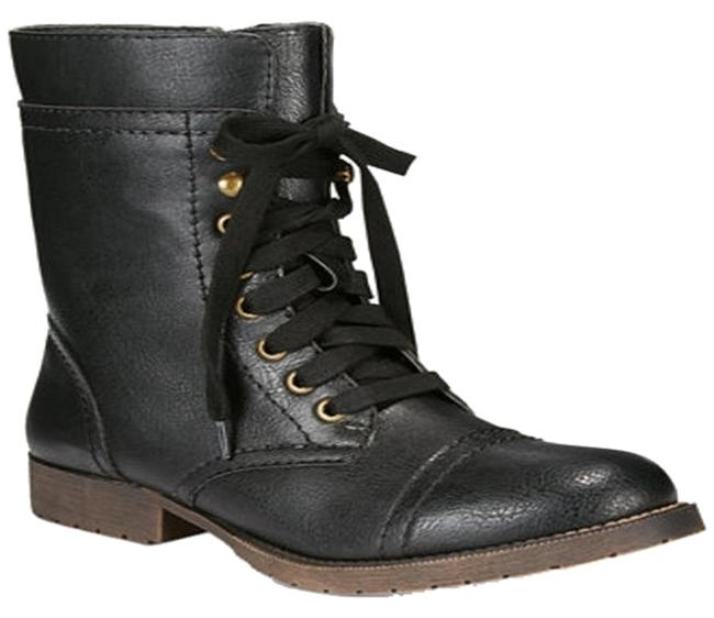 Item - Black Juliana Combat Boots/Booties Size US 8 Regular (M, B)