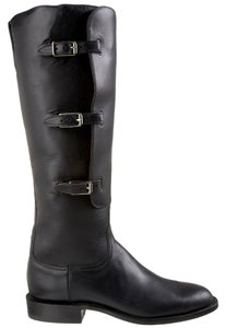 Lucchese Boot Leather Polo Boot Black Boots