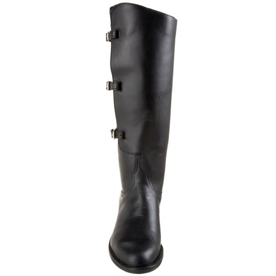 Lucchese Leather Polo Riding Equestrian Knee High Black Boots