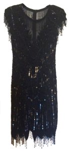 Laurence Kazar Embellished Sequin Dress